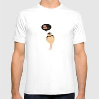 SCOLOPACIDAE BIRD Mens Fitted Tee White SMALL