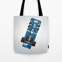 Outline Series N.º3, Jody Scheckter, Tyrrell-Ford 1976 Tote Bag