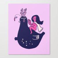 Planet Princess Canvas Print