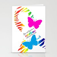 You can't have a Rainbow without the Rain - Awareness Ribbon Stationery Cards