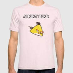 Angry Bird  Mens Fitted Tee Light Pink SMALL