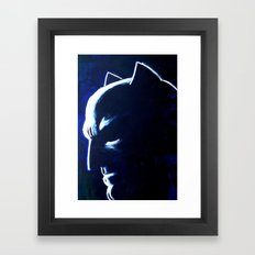 DARK HERO BLUE Framed Art Print