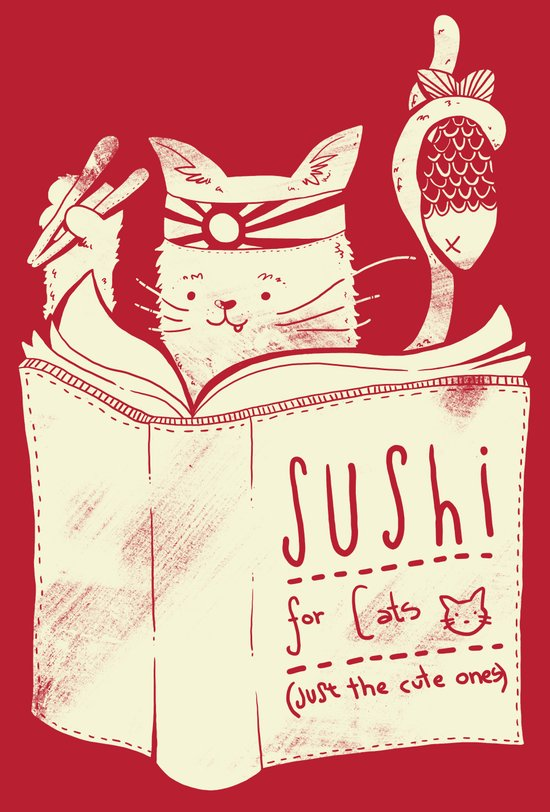Sushi for Cats Canvas Print