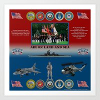 Armed Forces Poster #Ame… Art Print