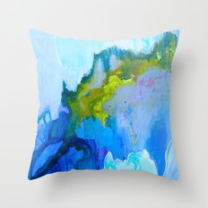 Flickering Cup - Light in the Caves Throw Pillow