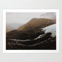 Glacier Run Off, Crow Pass AK Art Print