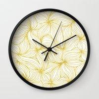 Golden Doodle floral Wall Clock