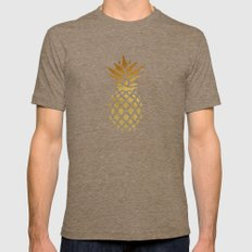 Golden Pineapple Mens Fitted Tee Tri-Coffee SMALL