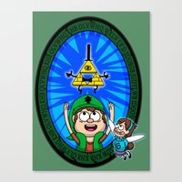 Gravity Falls: Hyrule Falls Canvas Print