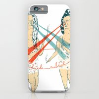 iPhone Cases featuring subtle duel by mariana, a miserável(the miserable one)