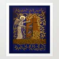Angel At The Door Royal … Art Print