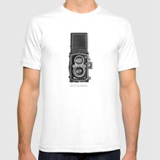 The King of Cameras - The Rolleiflex Mens Fitted Tee White SMALL