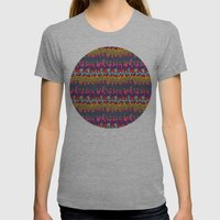 Colorfol blobs Womens Fitted Tee Athletic Grey SMALL