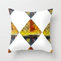 Autumn Diamond Throw Pillow