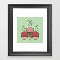 Cute Monster With Red An… Framed Art Print