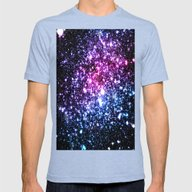 Cool Tone Stars Mens Fitted Tee Tri-Blue SMALL
