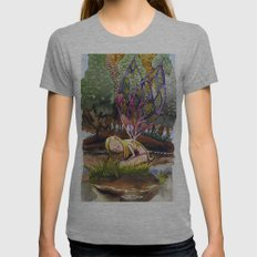 Fairy Womens Fitted Tee Athletic Grey SMALL