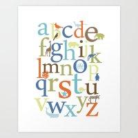 Alphabet Animals - Safar… Art Print