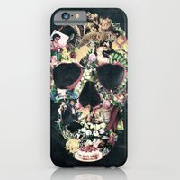 skull iPhone & iPod Cases featuring Vintage Skull by Ali GULEC