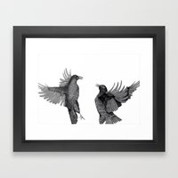 Ravens. Framed Art Print