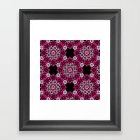 Squiggle Pink Framed Art Print