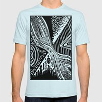 what do you see? Mens Fitted Tee Light Blue SMALL