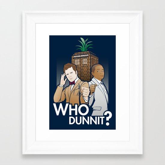 Who Dunnit? Framed Art Print