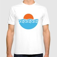Japanese Tsunami  Mens Fitted Tee White SMALL