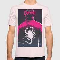 Drive (Night Version) Mens Fitted Tee Light Pink SMALL
