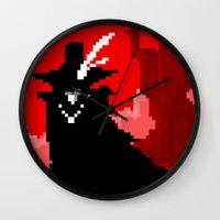 Vampire Hunter D On Pixe… Wall Clock