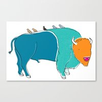 Bristol Bison Canvas Print