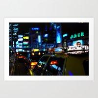 Tokyo Night Lights Art Print