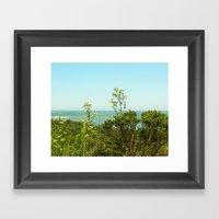 California Coast Floral … Framed Art Print