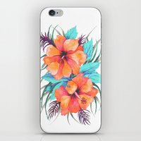 TROPICAL FLOWER {orange … iPhone & iPod Skin