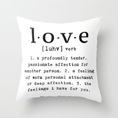 The Meaning Of Love Throw Pillow
