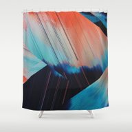 Folded Shower Curtain