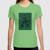 CATWOMAN Womens Fitted Tee Grass SMALL