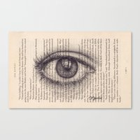 Eye in a Book Canvas Print