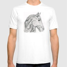 Horse Mens Fitted Tee White SMALL