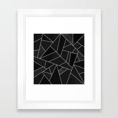 Black Stone Framed Art Print