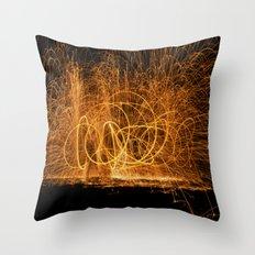 Home made fireworks Throw Pillow