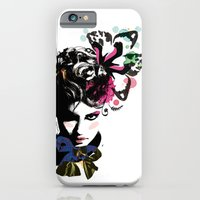 iPhone & iPod Case featuring Fashion woman by Lorène Russo illustration
