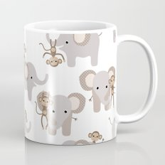 Monkey and elephant Mug