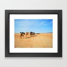 {camel train} Framed Art Print