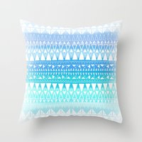 Triangle Gradient Aqua M… Throw Pillow