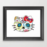 sugar kitty Framed Art Print