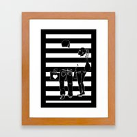 Stripes 2 Framed Art Print