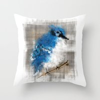 A Blue Jay Today Throw Pillow