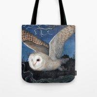 Barn Owl at Night Tote Bag