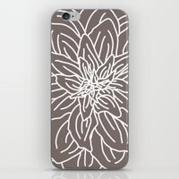 Abstract Flower Brown iPhone & iPod Skin